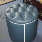 Pouf in Pelle Roma Mod. Will O' The Wisp